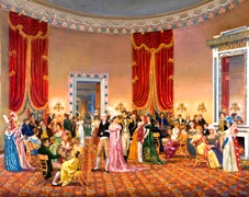 Peter Waddell painting of Oval Room - James and Dolley Madison c.1810